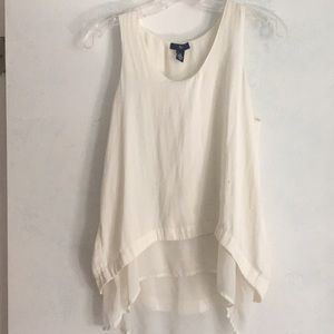 Gap high low white tank top